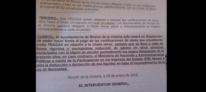 IU denuncia en el pleno que la financiación de la Piscina Cubierta se haga a costa de recortar en distintas áreas del Ayuntamiento tras informe del interventor