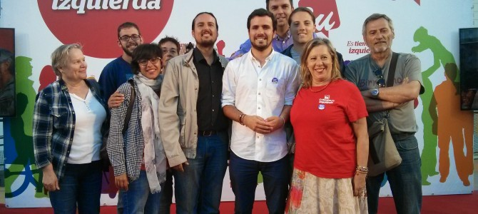 Alberto Garzón muestra su apoyo a la candidatura de Izquierda Unida 'Rincón Para La Gente'
