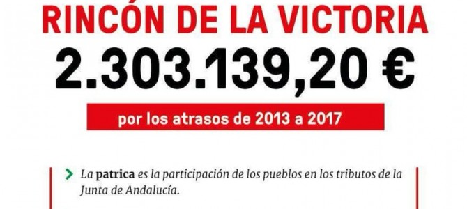 IU Rincón se une a la campaña de la Patrica y solicitará en pleno que nuestro municipio reciba lo contemplado por ley y no 500.000 euros menos como tiene previsto la Junta de Andalucía