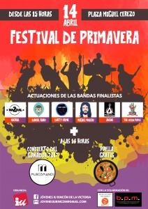 Cartel del Festival de Primavera Rincón de la Victoria 2018
