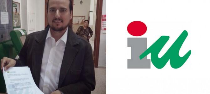 IU Rincón apuesta por la transparencia y hace púbico los bienes, la nómina y la renta del candidato a la alcaldía y concejal, Pedro Fernández Ibar