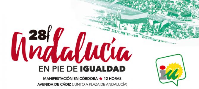 """IU llama a un 28F """"por una Andalucía en pie de igualdad hacia fuera y hacia dentro"""""""